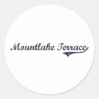 Mountlake Terrace Washington Classic Design Classic Round Sticker