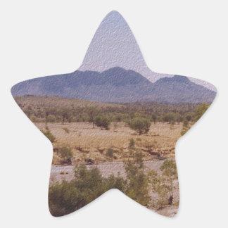 MountLiebig_NorthernTerritory.JPG Pegatina En Forma De Estrella