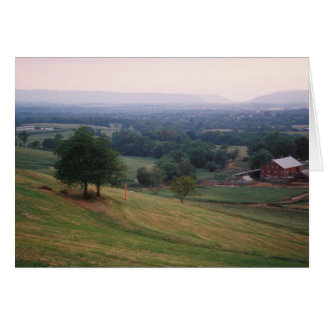 Mountville Pass, Middletown Valley in Maryland Card