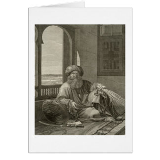Mourad Bey, from Volume II Costumes and Portraits Greeting Card