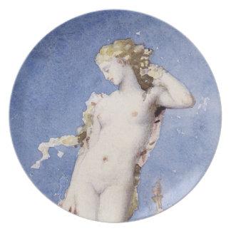 Moureau Aphrodite Birth of Venus Melamine Plate