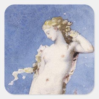Moureau Aphrodite Birth of Venus Square Sticker