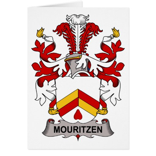 Mouritzen Family Crest Greeting Card
