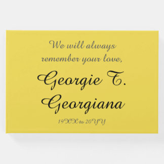 Mournful & Respectable Memorial Guestbook
