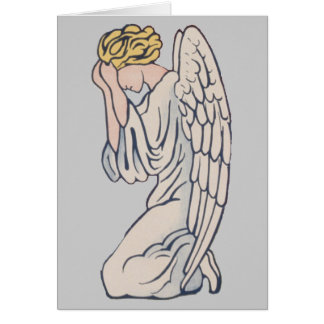 Mourning Angel customizable remembrance Card