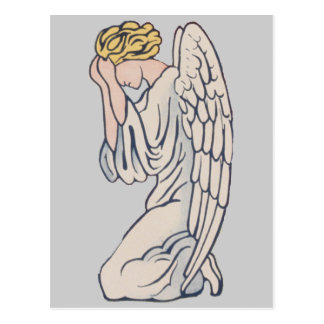 Mourning Angel customizable remembrance Postcard