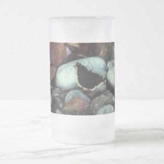 Mourning Cloak #01 Frosted Glass Beer Mug