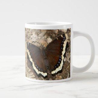 Mourning Cloak Butterfly, Jumbo Mug. Giant Coffee Mug