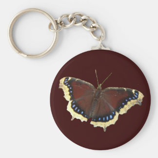 Mourning Cloak butterfly ~ keychain