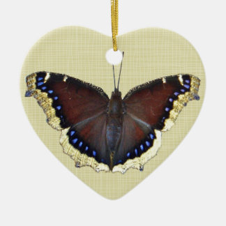 Mourning Cloak Butterfly - Nymphalis antiopa Ceramic Ornament