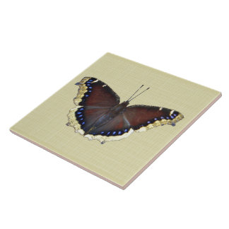 Mourning Cloak Butterfly - Nymphalis antiopa Ceramic Tile