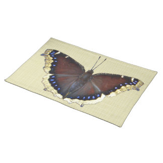 Mourning Cloak Butterfly - Nymphalis antiopa Cloth Place Mat