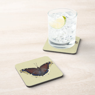 Mourning Cloak Butterfly - Nymphalis antiopa Drink Coaster