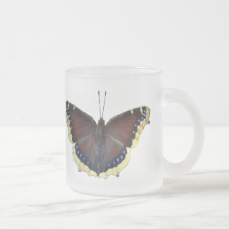 Mourning Cloak Butterfly - Nymphalis antiopa Frosted Glass Coffee Mug