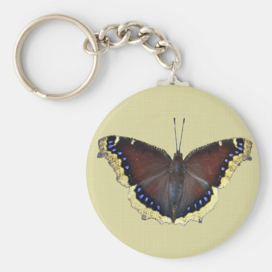 Mourning Cloak Butterfly - Nymphalis antiopa Keychain
