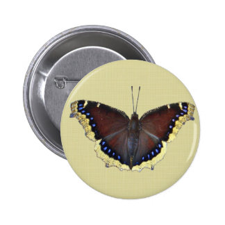 Mourning Cloak Butterfly - Nymphalis antiopa Pinback Button