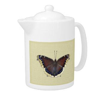 Mourning Cloak Butterfly - Nymphalis antiopa Teapot