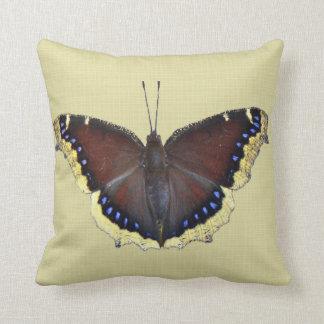 Mourning Cloak Butterfly - Nymphalis antiopa Throw Pillow