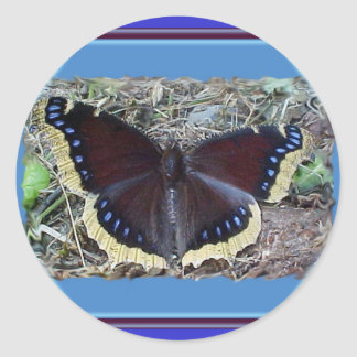 Mourning Cloak Butterfly Stickers
