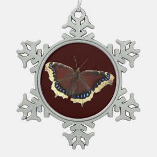 Mourning Cloak ~ Pewter Ornament at Zazzle