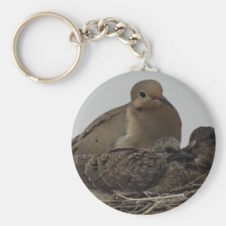 Mourning Dove Family Keychain