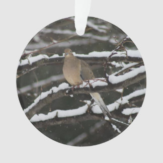 Mourning Dove in the snow ornament