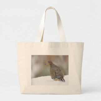Mourning dove photography large tote bag