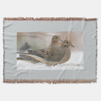 Mourning dove photography throw