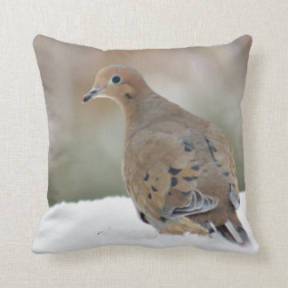 Mourning dove photography throw pillow