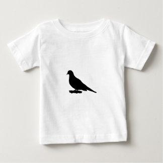 Mourning Dove Silhouette Love Bird Watching Baby T-Shirt