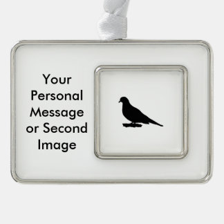 Mourning Dove Silhouette Love Bird Watching Christmas Ornament