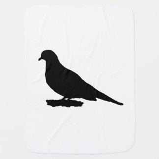 Mourning Dove Silhouette Love Bird Watching Stroller Blanket