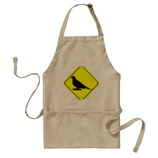 Mourning Dove Warning Sign Love Bird Watching Adult Apron