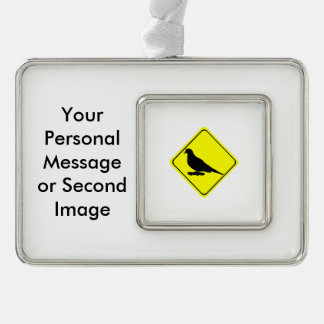 Mourning Dove Warning Sign Love Bird Watching Ornament