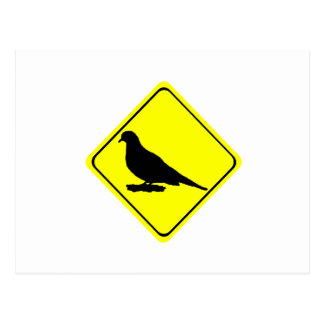 Mourning Dove Warning Sign Love Bird Watching Postcard