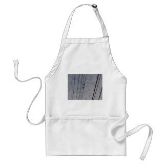 Mourning Doves on Wire Adult Apron