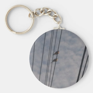 Mourning Doves on Wire Keychain