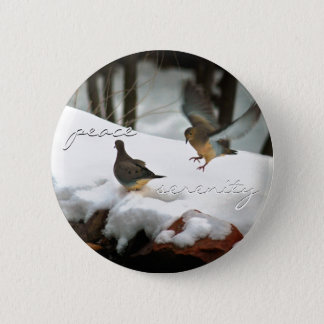 Mourning Doves Photo Pinback Button