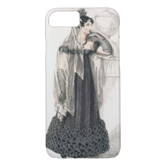 Mourning dress, fashion plate from Ackermann's Rep iPhone 7 Case