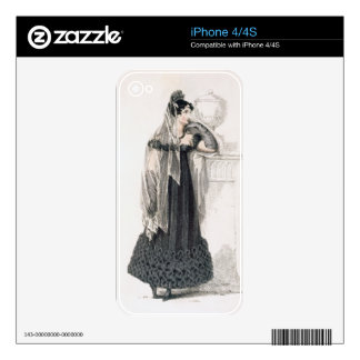Mourning dress, fashion plate from Ackermann's Rep Skin For The iPhone 4