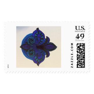 mourning fleur de lis postage
