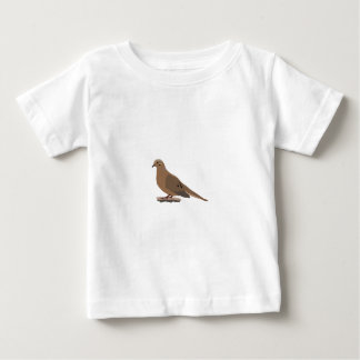 Mourning, Love or Turtle Dove Digitally Drawn Bird Baby T-Shirt