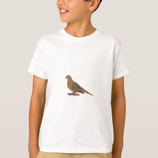 Mourning, Love or Turtle Dove Digitally Drawn Bird T-Shirt
