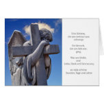 Mourning map angel card