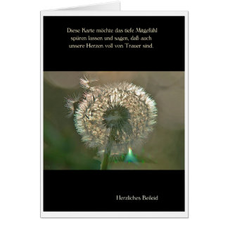 Mourning map breath flower cordial condolence greeting card
