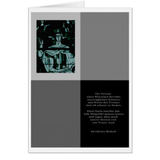Mourning map cordial condolence with saying greeting card