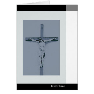 Mourning map Jesus at the cross in deep mourning Greeting Card