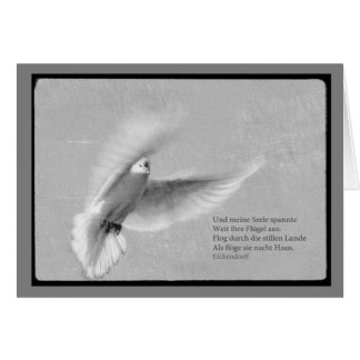 Mourning map white pigeon and my soul greeting card