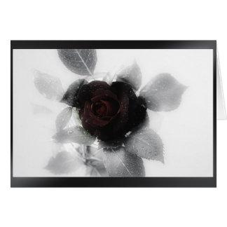 Mourning Memory Rose Card