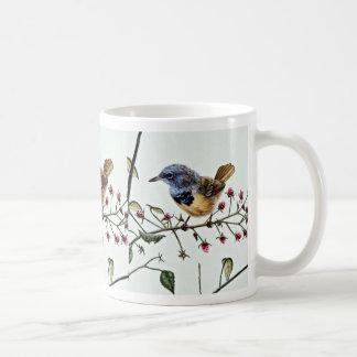 Mourning warbler  flowers classic white coffee mug
